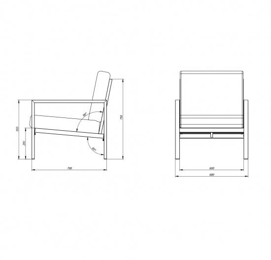 Садовое кресло VL-3